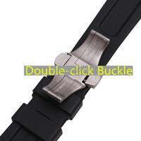 мужчин/резиновые ремни, дважды щелкните бабочка Браслеты застежка pam 111/386 22|24mm силиконовая резина