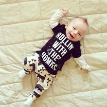 Мальчик модная одежда малыша детская одежда набор, возраст 0-2 лет с длинным рукавом Baby boy одежда bebe мальчики милые костюмы C9271(China (Mainland))