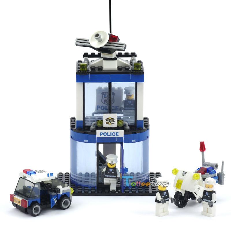 Qiaoletong 217pcs 3D construction eductional Bricks Building Blocks Sets city police series Police unit B children toys(China (Mainland))
