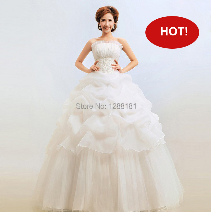 Hot sale Cheep price Wedding Dress New 2016 Bra Korean Princess slim Thin Wedding Bride Good quality Top rate store(China (Mainland))
