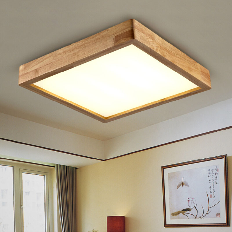 Ceiling light with oak : Aliexpress buy new creative oak modern led ceiling