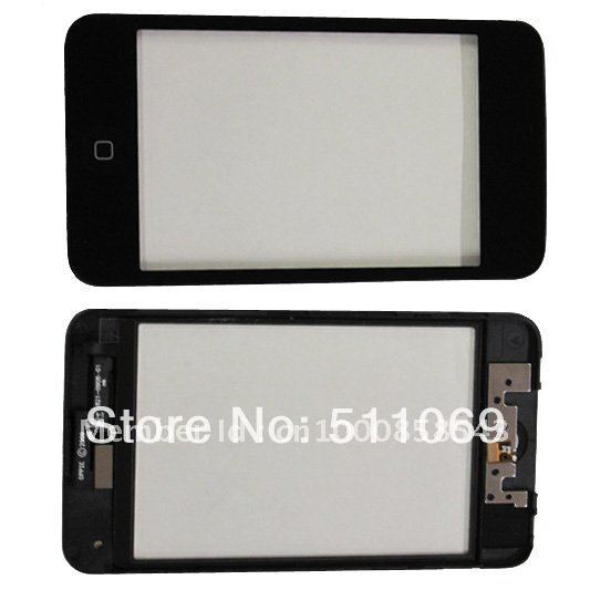 100% warranty Touch screen for iPod Touch 3 Digitizer with frame and home button assebmly by free shipping(China (Mainland))