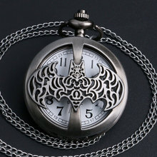 Cool Batman Quartz Pocket Watch With Necklace Chain For Man/Boys/Children Gift(China (Mainland))