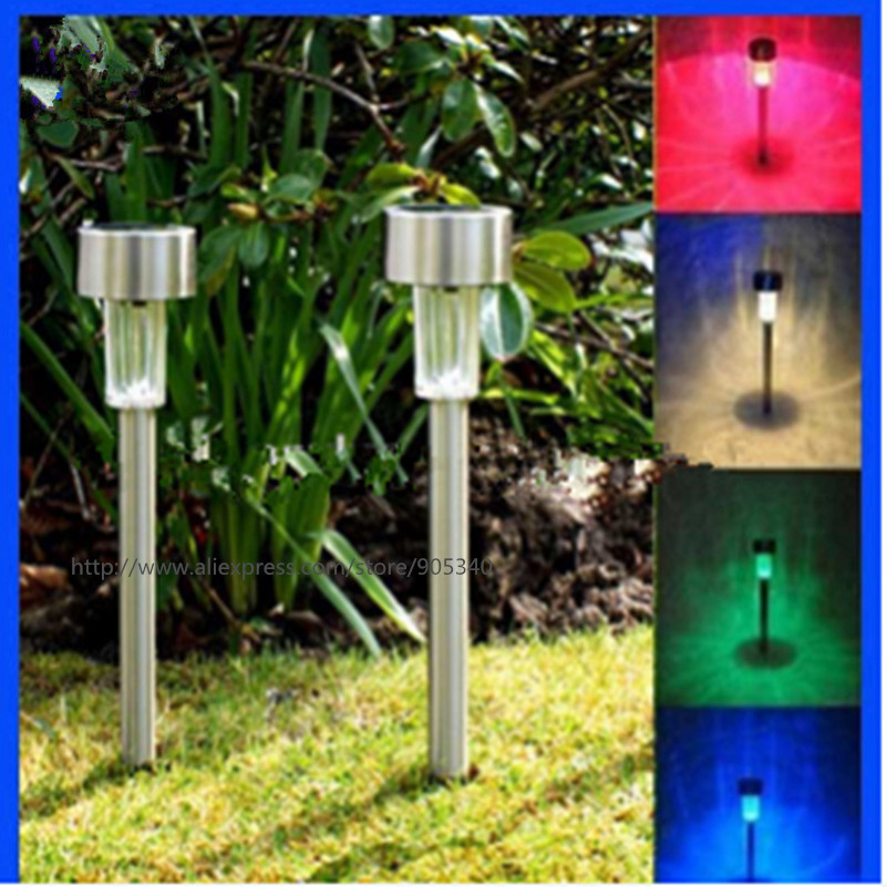 outdoor solar power lawn lamps waterproof color changing