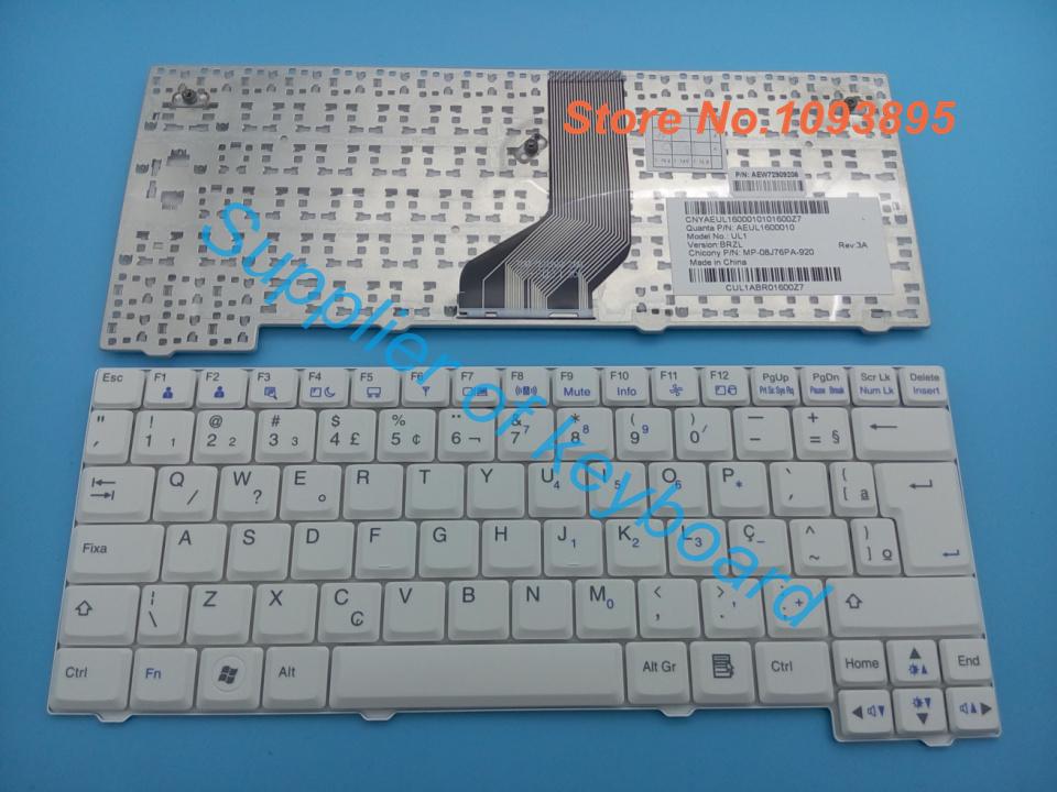 5pcs/lots NEW Brazil keyboard for LG X120 X130 CI P100 UL1 MP-08J76PA-920 AEUL1600010 BR Laptop Keyboard White(China (Mainland))