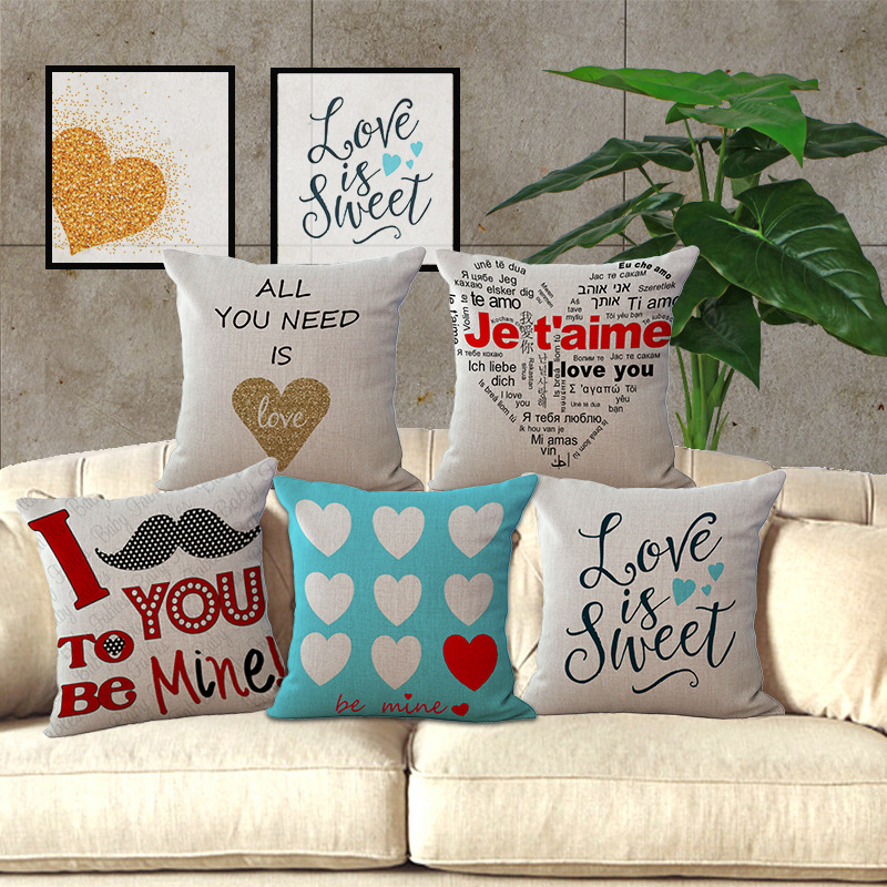 Wholesale Price 1 Piece Creative Lover Seires Seat Cushion Decorative Home Decor Sofa Chair