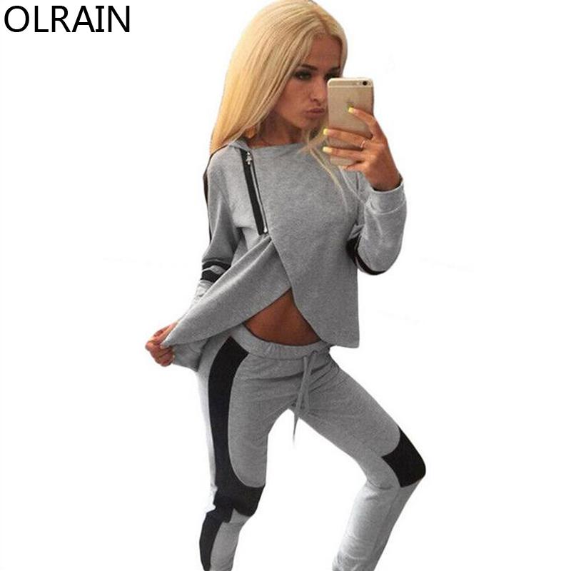 Model Fashion New Women Hoodies Tracksuit Sportswear Hoody Set Pants