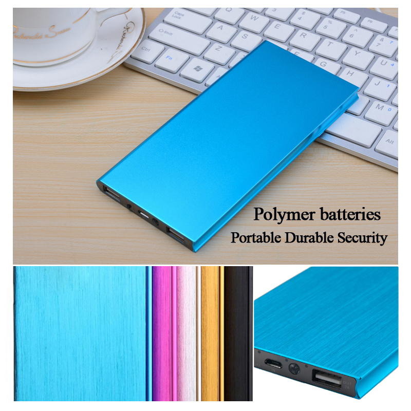 Ultra-thin polymer power bank 10000 mah for iphone 5s 6 samsung powerbank external battery mobile phone charger(China (Mainland))