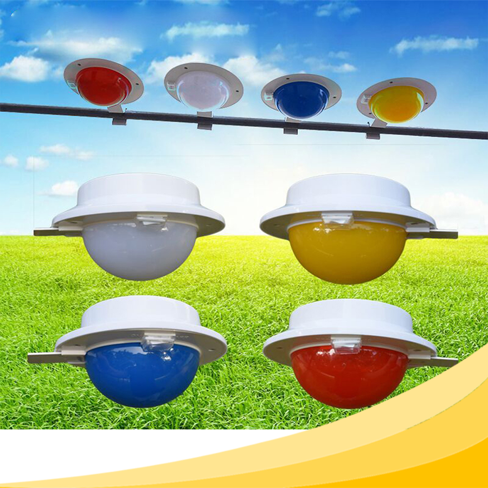 Four Optional Color (White Blue Yellow Red) 5 LEDs Auto ON/OFF Cool White Solar Light for Gutter Outdoor Garden Yard Lamp Roof(China (Mainland))