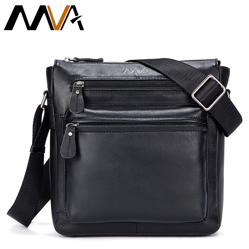 MVA Genuine Leather Bag Men Bags Fashion Men Messenger Men's Leather Bag Male Casual Shoulder Crossbody Bags Man Flap