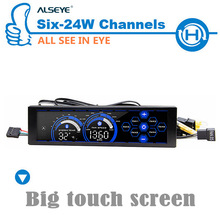 ALSEYE a-100L(B) 6 Channel computer fan controller fan speed controller gaming fan 5.25 touch LCD Liquid Cooling Pump Control(China (Mainland))
