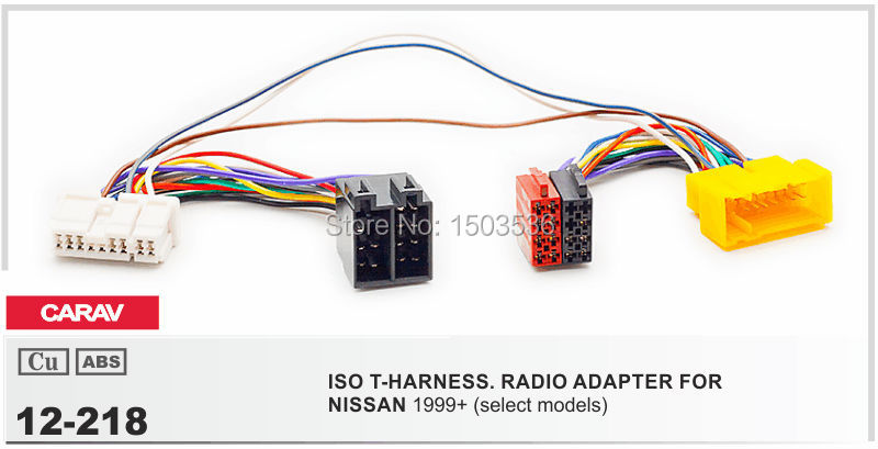 CARAV 12-218 Adapter cable ISO T-Cable for NISSAN Parrot THB SOT T-Harness Adaptor ISO Wiring Lead(China (Mainland))