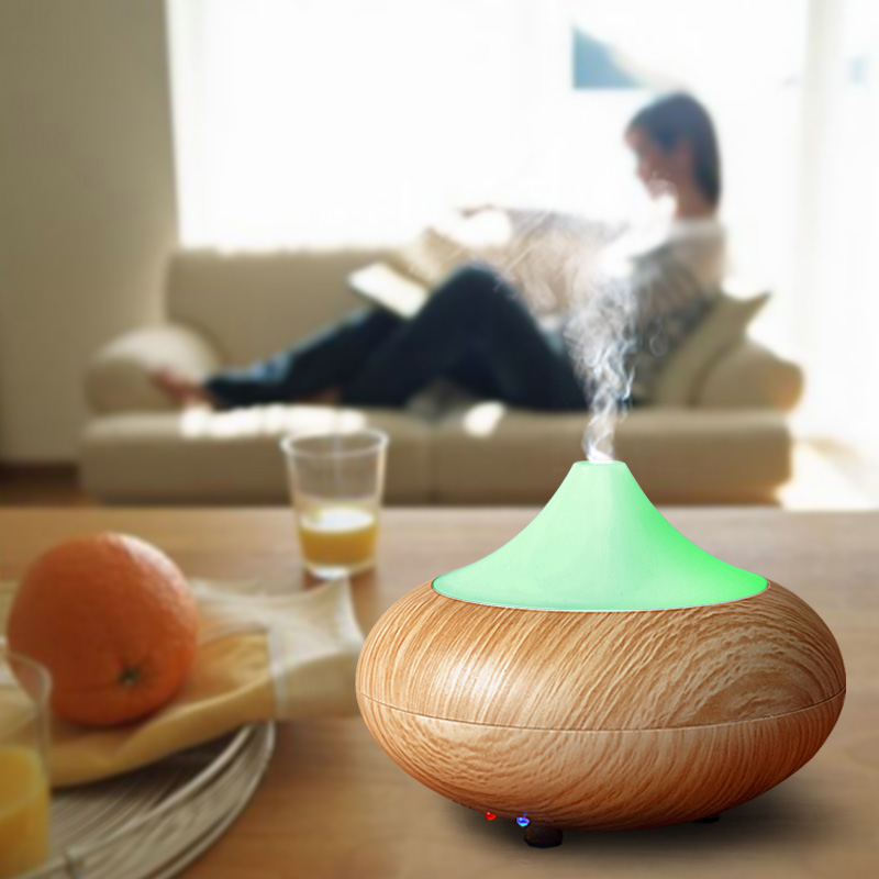 Portable Humidifier Aromatherapy Mini Desktop Air Cleaner Wave Air Filter Aroma Essential Oil Diffuser With LED Night Light(China (Mainland))