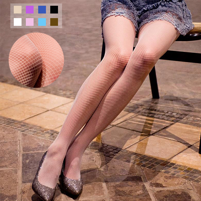 3 Pairs/Lot Summer Sexy Style Women's Black Nude Nylons Fishnet Tights Pantyhose Stockings With Small Mesh Holes Plus Size(China (Mainland))