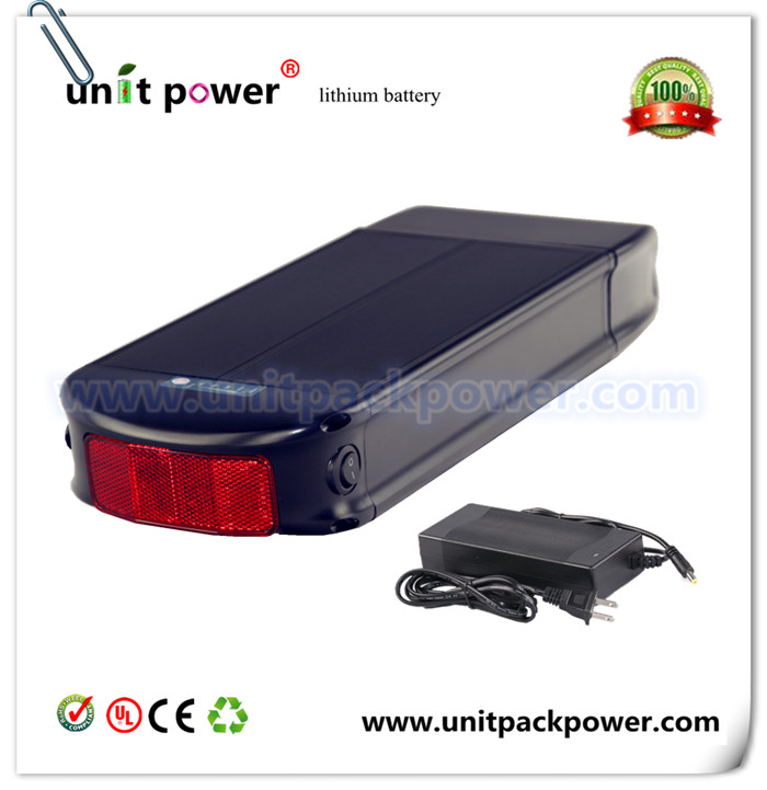 Factory directly selling fishion new style plat li-ion battery 48v 8ah ebike battery with taillight<br><br>Aliexpress
