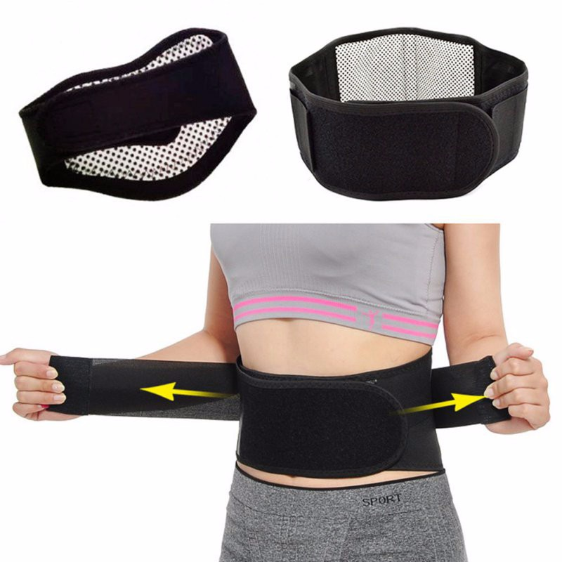 Daily Use Health Care Adjustable Self-heating Magnetic Therapy Waist Belt Support Back Waist Protection Brace Double Lumbar