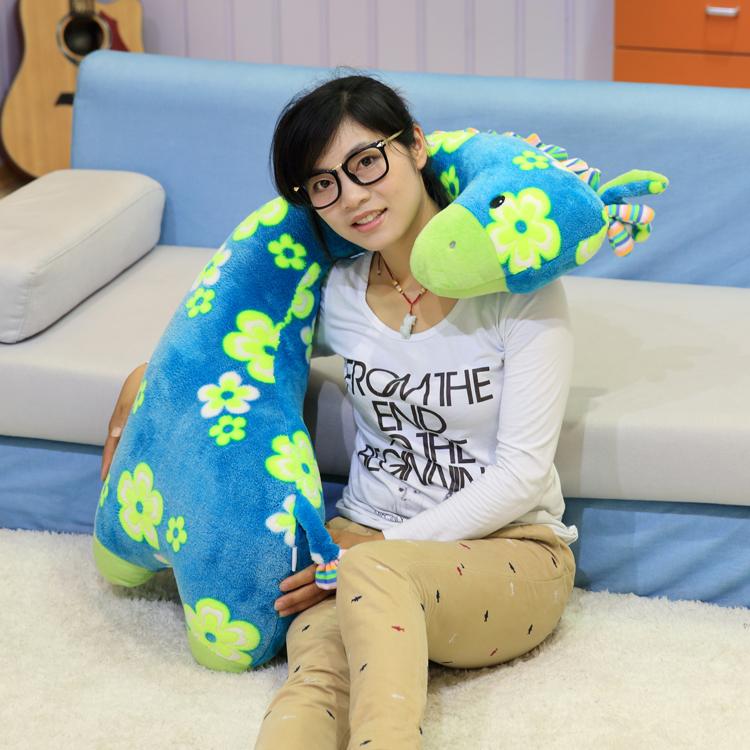 2016 new style giraffe dolls Cartoon Large plush toy kids toys pillow nap male friend doll female birthday gift