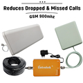 1 Year Guarantee Full Kit GSM 900 Cellular Signal Repeater ALC 65dB Gain Mobile Phone Amplifier