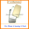 Free Shipping Metal Spare Parts Card Tray And Keys Multicolor Back Cover for iPhone 6 4