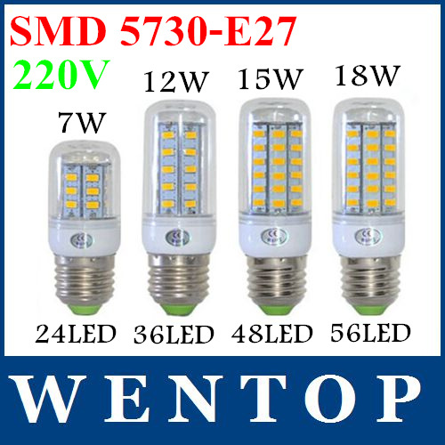 E27 SMD5730 LED Corn Lamps cover 24Led 36Led 48Led 56Led 69leds Bulb Light 12w 15w 18w 20w High Bright  -  ShenZhen WENTOP Technology Co., Ltd. store