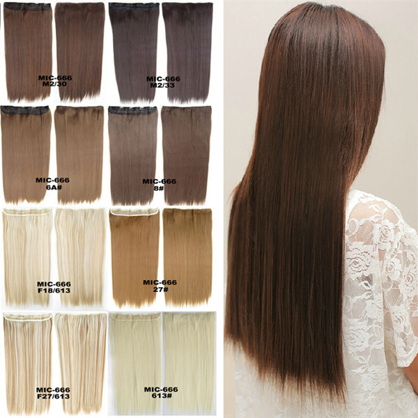 1PC  24inch 100g Clip in Hair Extensions Synthetic Hair Clip In Hair Extension Straight Hair Extension Free Shipping<br><br>Aliexpress