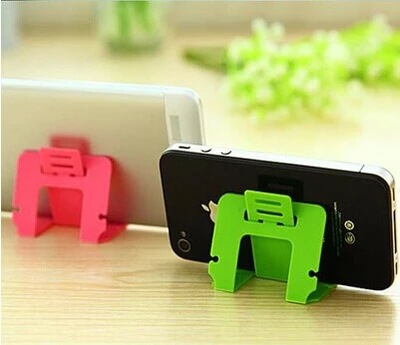 Multifunctional card type dawdler general mobile phone holder for iphone 4s for Samsung folding adjustable phone accessories(China (Mainland))