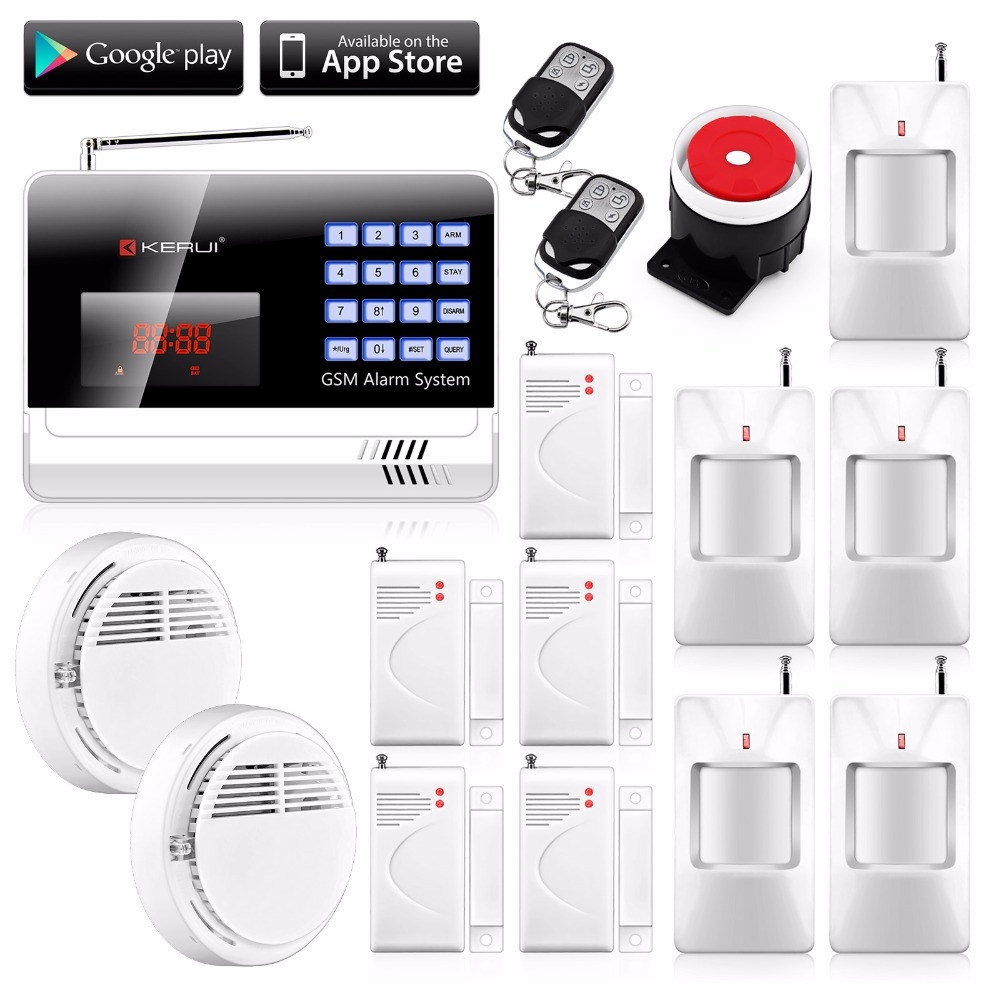 English/Russian/Spanish Android IOS APP Auto Dialing GSM Security Alarm Wireless Alarm Systems Security Home Alarm Protection(China (Mainland))