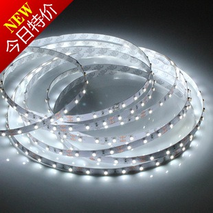 Highlight led soft lights with 12v 60 beads meters smd3528 light mobile phone jewelry counter led strip waterproof(China (Mainland))