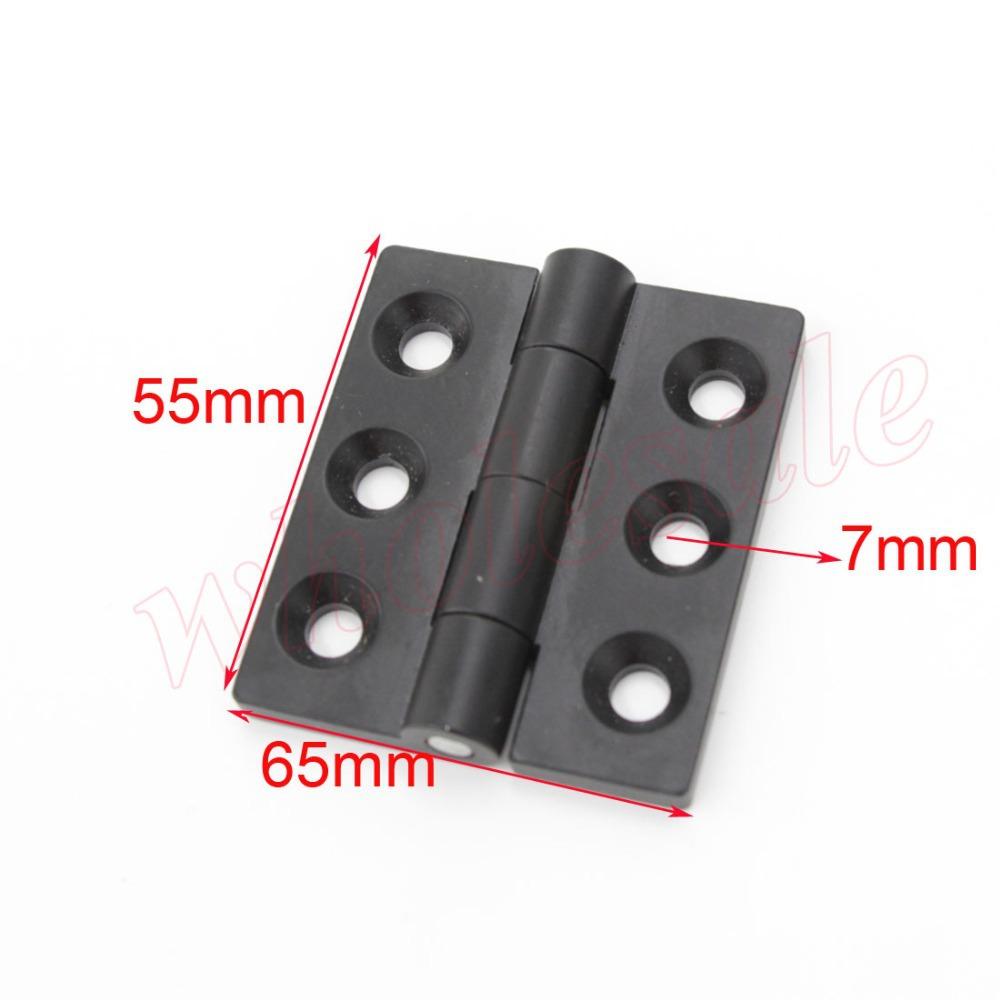 65 x 55 x 12mm Three Holes Black Zinc Alloy Solid Hinge for Wholesale 10pcs/lot (China (Mainland))
