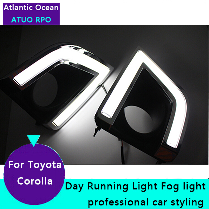 AUTO PRO for Car Styling Toyota Corolla LED DRL parking For Toyota Corolla led fog lamps daytime running lights driving light<br><br>Aliexpress