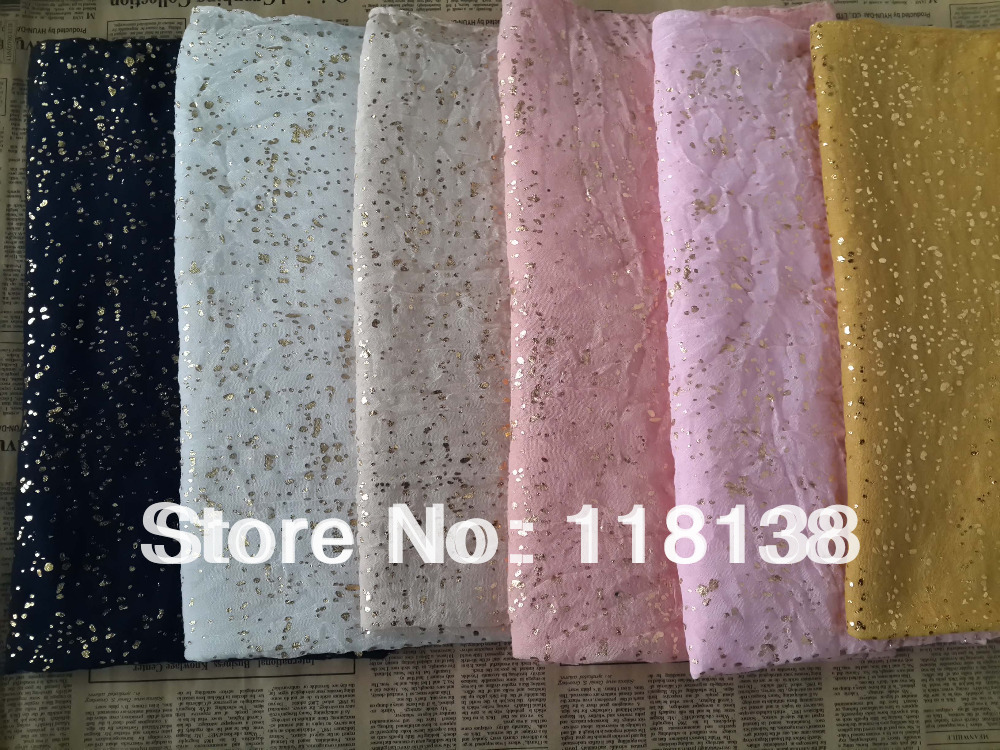 New Gold Glitter Scarf Shawl Wrap Plain Color Long Shawls Muslim Scarves Hijab , Free Shipping(China (Mainland))
