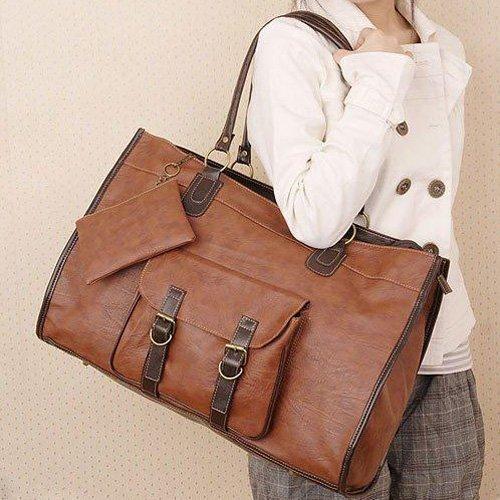 Brand New PU Leather Grid Purse Tote Handbag Shoulders big Bag for Ladies B076 FREE SHIPPING(China (Mainland))