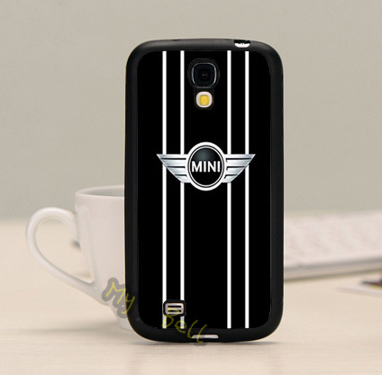 mini logo black hard plastic skin mobile phone accessories phone cases for samsung s3 s4 s5 note 2 note3 note4 with free gifts(China (Mainland))
