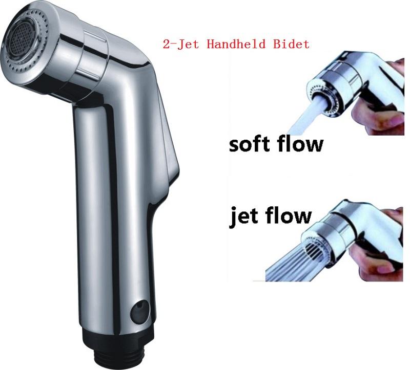 2-Jet High Quality Hand Held Bidet Portable Bidet Shower Hand Held ABS Spray Chrome Plated Bidet Faucet Free Shipping(China (Mainland))