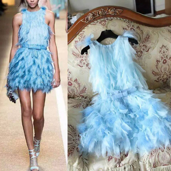 Summer Style Feather Dresses 2015 Luxury Brand Summer Dresses Women Free ShippingОдежда и ак�е��уары<br><br><br>Aliexpress