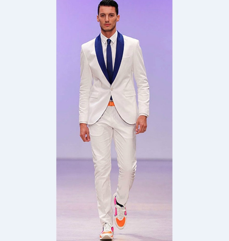 Compare Prices on White and Navy Blue Suit- Online Shopping/Buy ...