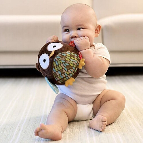 1Pcs Rattle Baby Doll Toy Gift Brinquedos Animal Stuffed Plush Soft Ball Rattles & Mobiles Toy Kids Early Learning(China (Mainland))