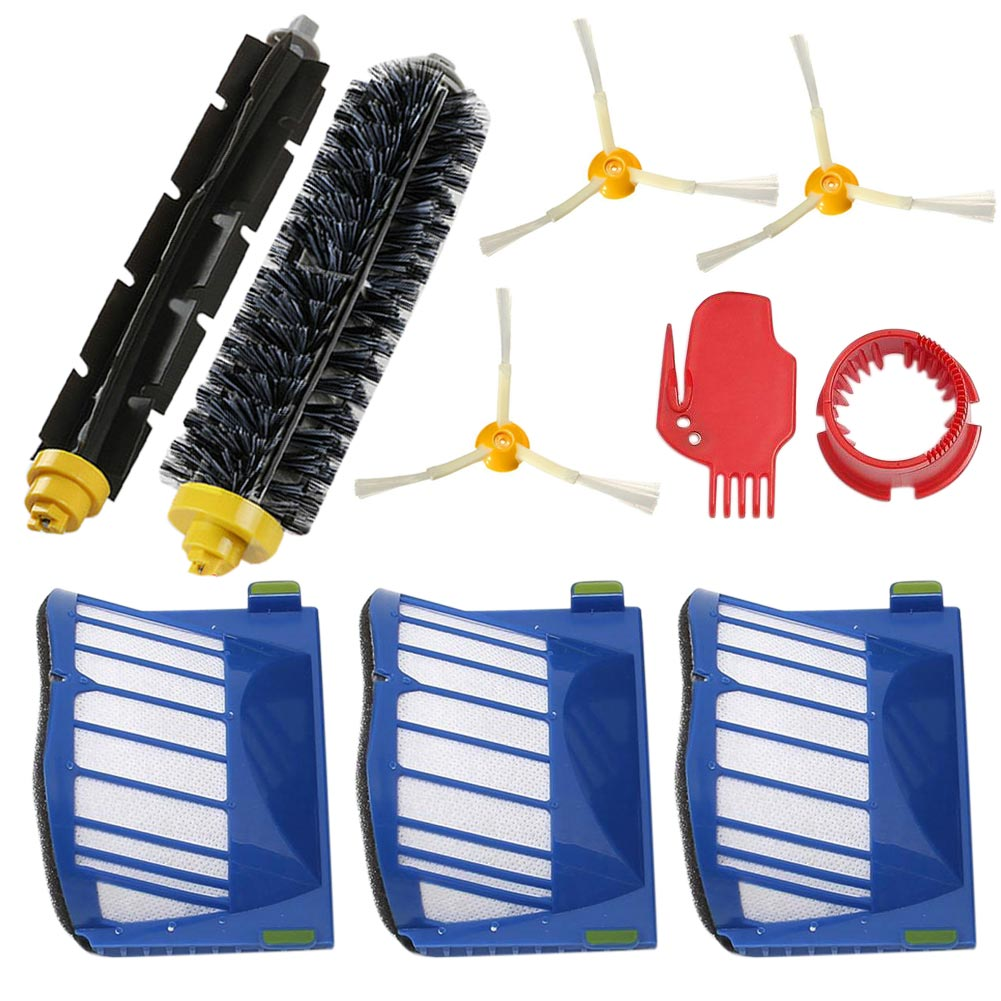 2016 New Robot Beater Bristle Brush Filter 3 Armed Brush Set Kit Series for 600 610 620 650 Vacuum Cleaner Round Cleaning Tool(China (Mainland))
