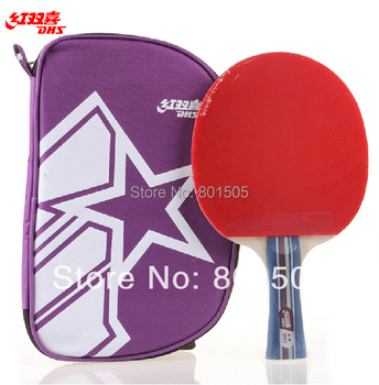 100% Genuine DHS 2002 Table Tennis Racket Paddle Bat Long Handle Shakehand 2 Star Shipped with a tracking number