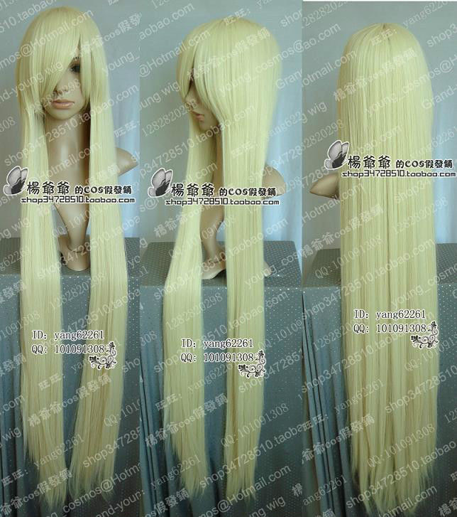 Chobits Long Platinum Blonde Cosplay Wigs Party cosplays heat resistant (B0320)<br><br>Aliexpress