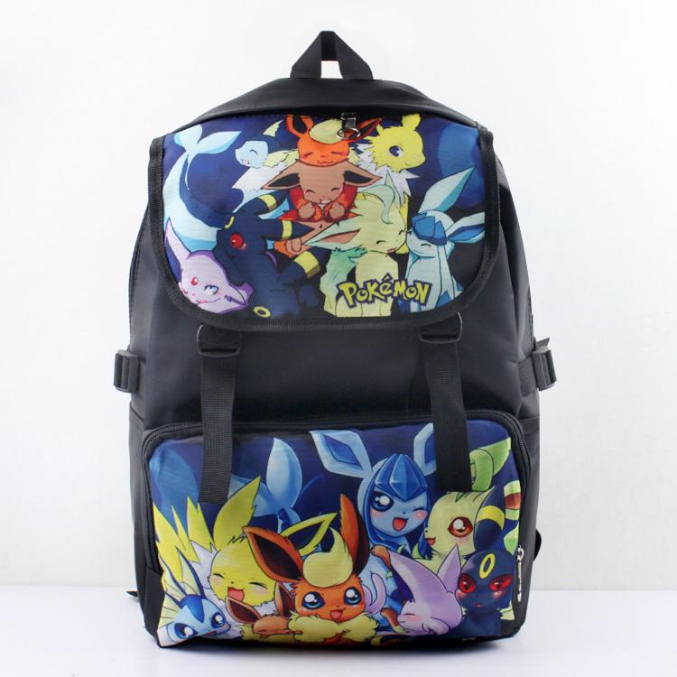 Pokemon Backpack - Fashion Cartoon Pokemon Backpack Pikachu Eevee Pokemon Backpack School Bag Hot Kids Pocket Monster Anti Water