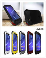 LOVE MEI Extreme Powerful Aluminum Rain Waterproof Metal Case For SONY Xperia T2 Ultra Gorilla Glass Free Shipping