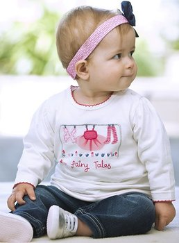Free shipping retail Girl suit Two-piece Long sleeve t shirt+Jeans children clothing Pants+T-shirt Size:80-120