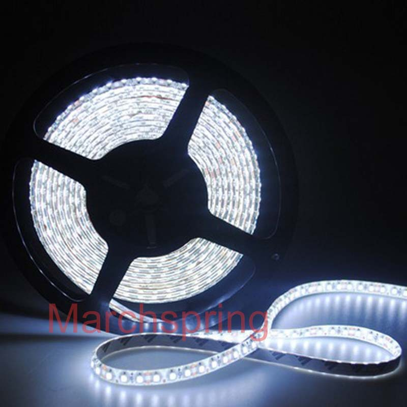 Free mail 3528 600 5M LED Strip SMD Flexible light 120led/m indoor non-waterproof warm / white/red/green/blue(China (Mainland))