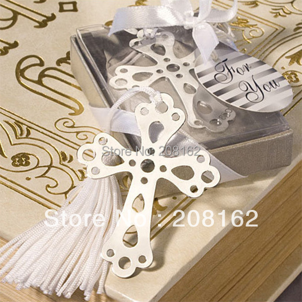 Crosses Bookmarks Metal With Tassels Chinese Souvenirs Stationery Pendant Gifts Wedding Favors (mix order 10 usd)(China (Mainland))