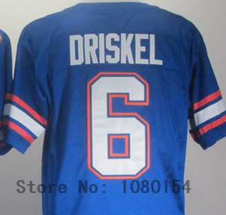 New Style 2014 ,Florida Gators #6 Jeff Driskel Blue Mens Football College Sports Jerseys,Free Shipping,Embroidery logos(China (Mainland))