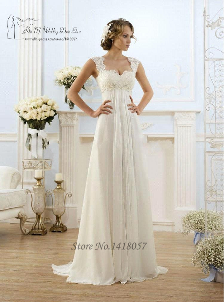 Buy simple cheap china wedding dresses for Beach chiffon wedding dress