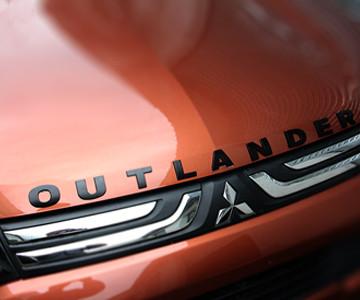 High quality Car 3D Outlander Plating Zinc Alloy hood badge emblems 9pcs for MITSUBISHI Outlander
