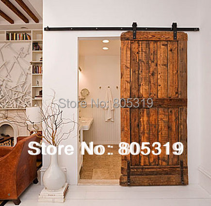 Sliding Barn Door Hardware Interior Sliding Wooden Door Kit In Doors