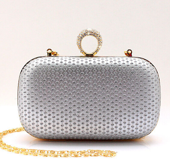 Free Shipping Ladies Skull Clutch Knuckle Rings Handbag, Four Fingers Slull Evening Bag with Shoulder Chain punk wallet EB0181<br><br>Aliexpress